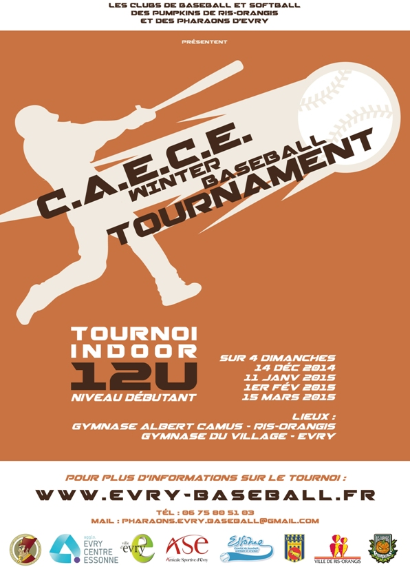 AFFICHE CAECE WINTER BASEBALL TOURNAMENT